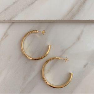 Vestry Hoops | 18k Gold Filled